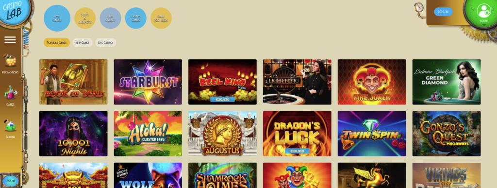 casinolab games