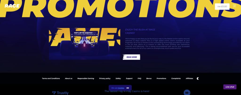 race casino promotions