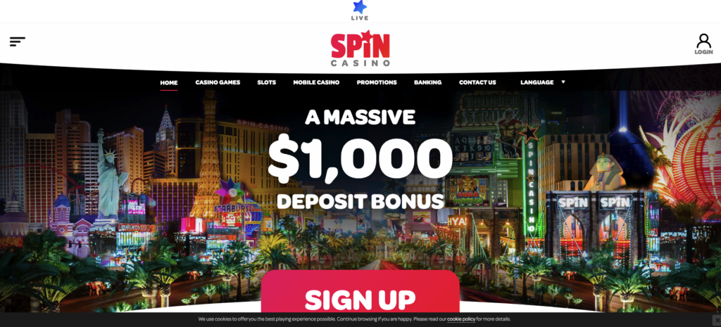 spin casino welcome