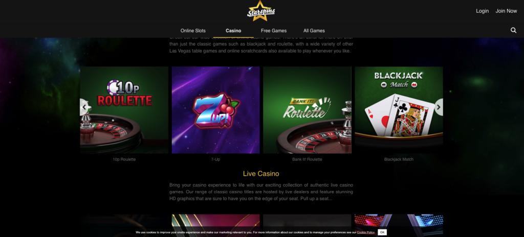 starspins games