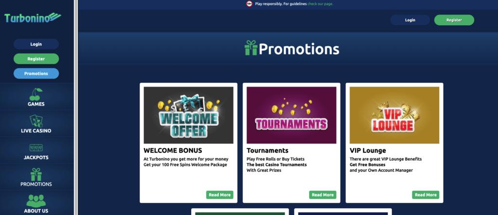 turbonino promotions