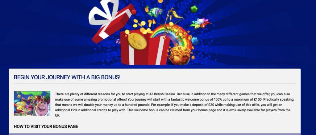 all british casino bonuses