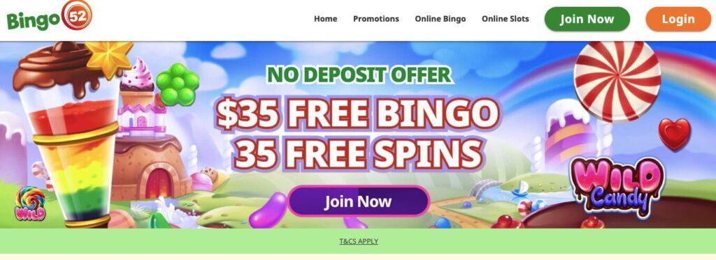bingo 52 welcome