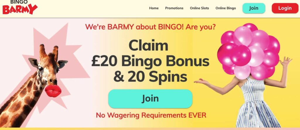 bingo barmy welcome