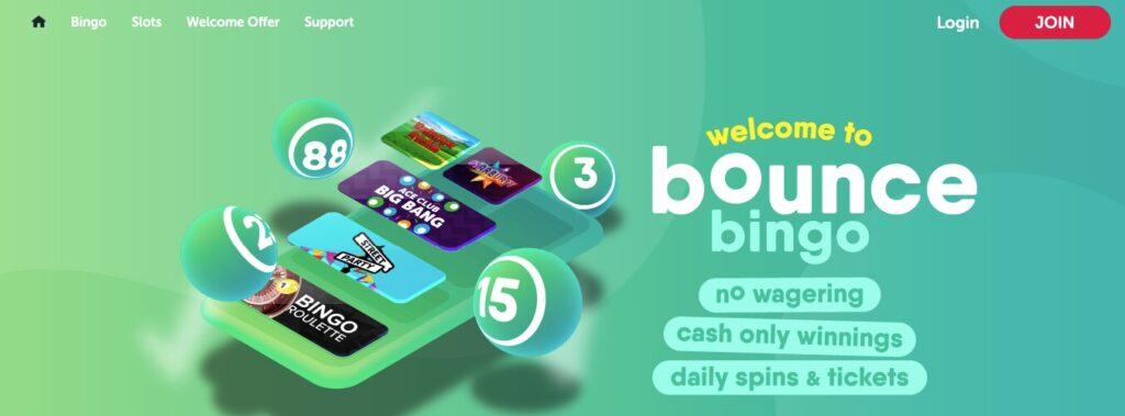 bounce bingo welcome
