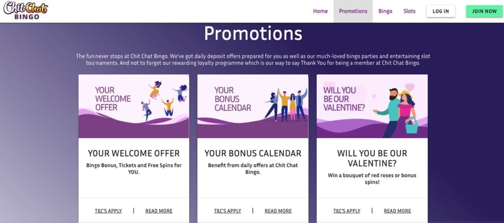 chitchat bingo promotions