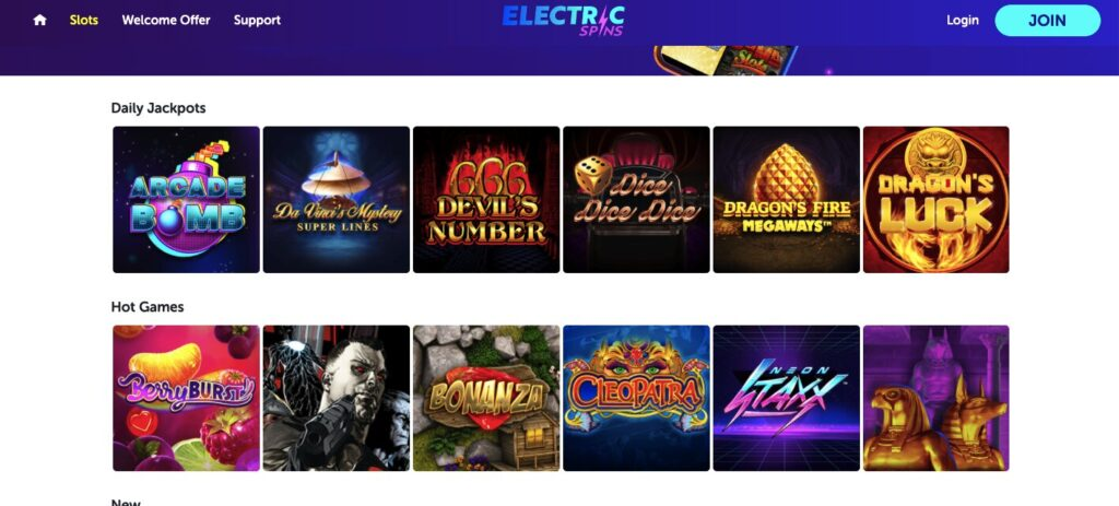electric spins games