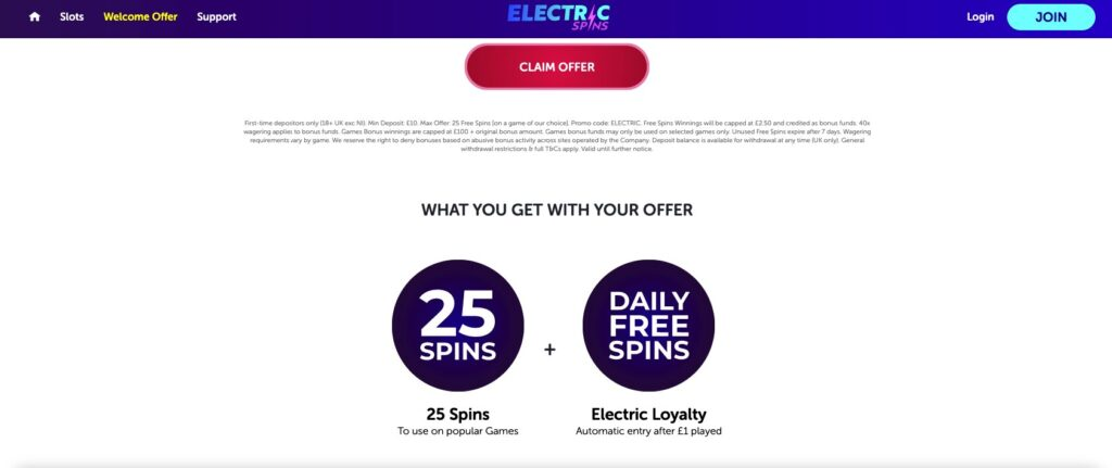 electric spins promos