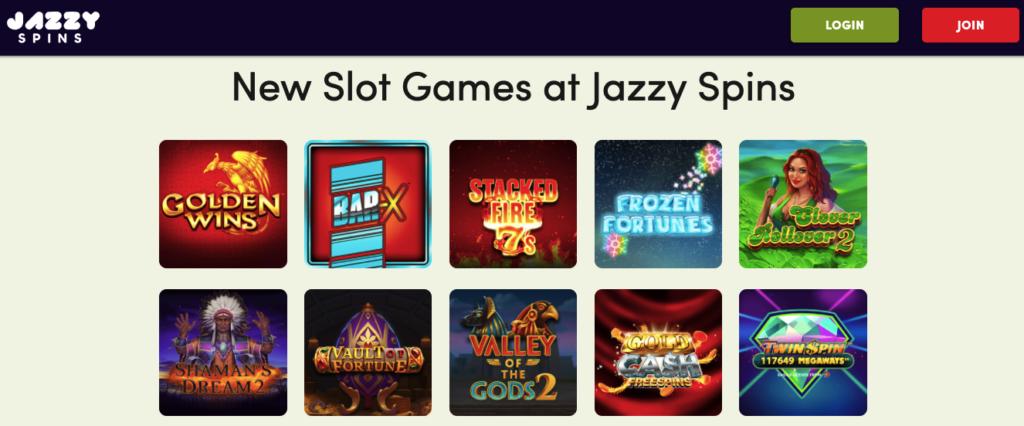 jazzy spins games