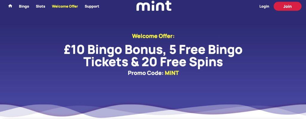 mint bingo bonuses