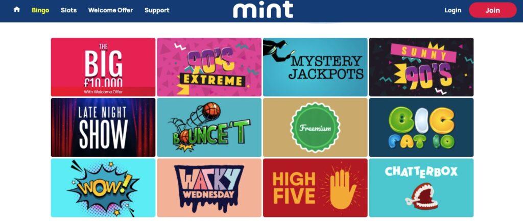 mint bingo games