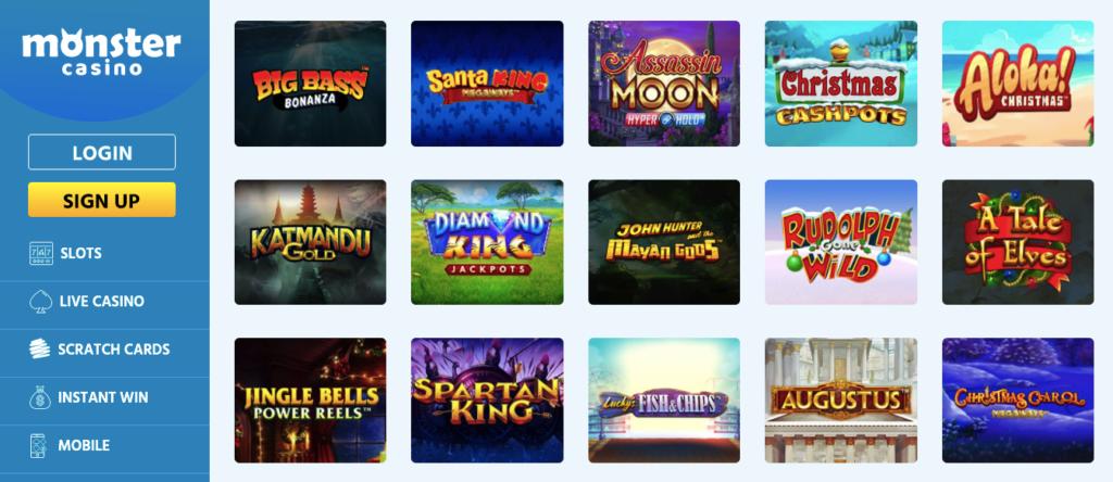 monster casino games