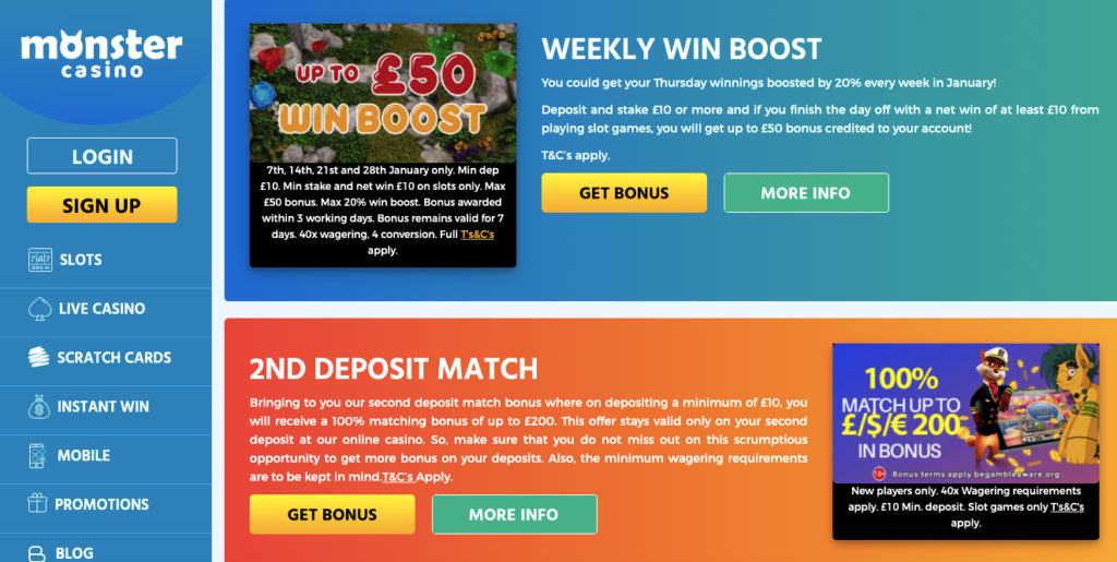 monster casino promotions