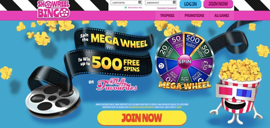 show reel bingo welcome