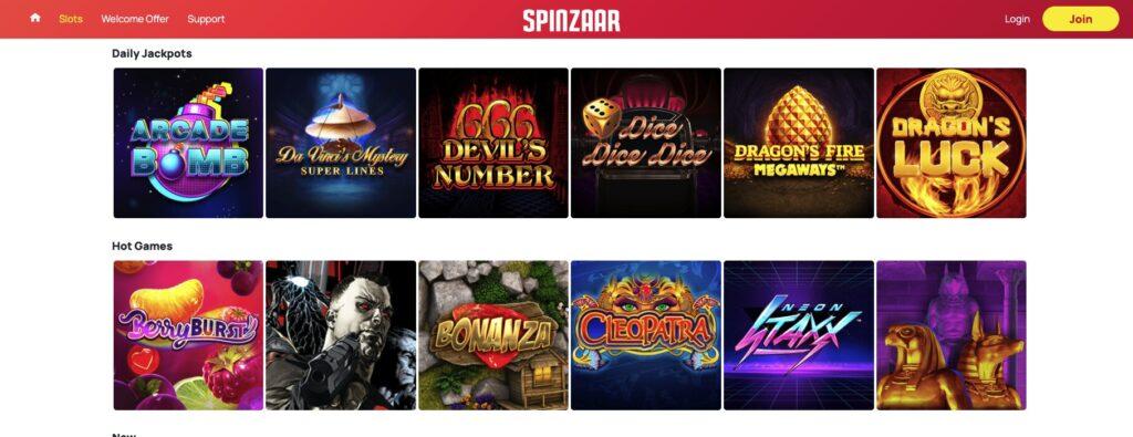 spinzaar games