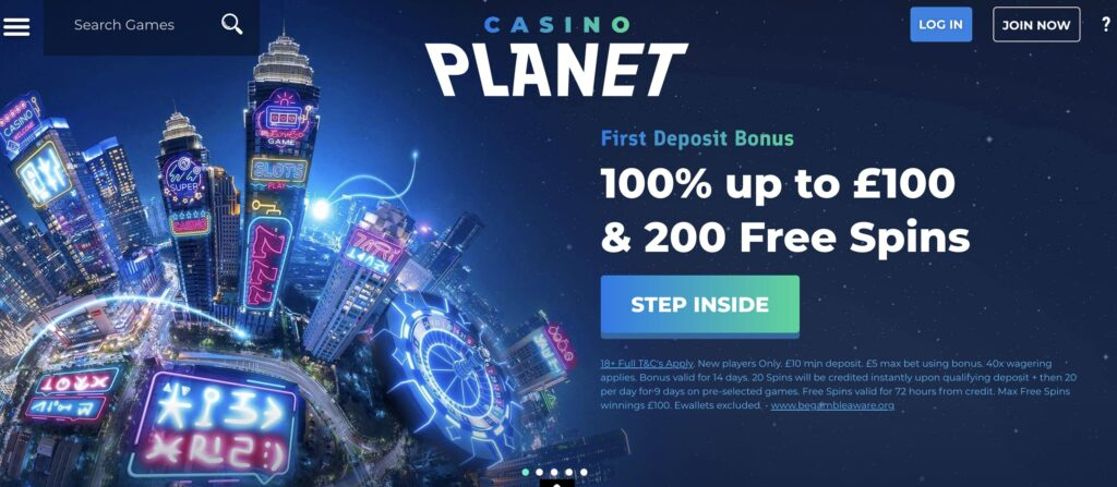 casino planet welcome
