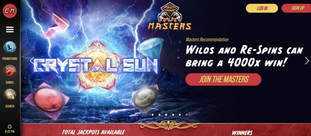 casino masters welcome